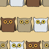 Seamless pattern with colorful owls Royalty Free Stock Photography