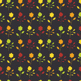 Seamless pattern of colorful painted flowers on a Stock Image