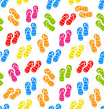 Seamless Pattern Colorful Pairs of flip-flops Stock Photography