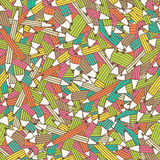 Seamless pattern with colorful pencil ornament. Seamless pattern with colorfu pencil ornament with irregular structure. Hand drawn style and happy babyish color stock illustration