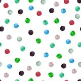 Seamless pattern with colorful polka dots royalty free stock photography