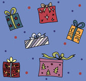 Seamless pattern with colorful presents Royalty Free Stock Photos