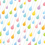 Seamless pattern with colorful raindrops. Royalty Free Stock Image