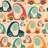 Seamless pattern with colorful retro cars. Royalty Free Stock Photography