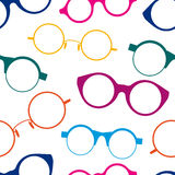 Seamless pattern with colorful retro glasses Royalty Free Stock Image