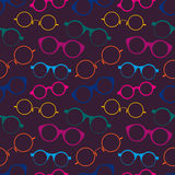 Seamless pattern with colorful retro glasses Royalty Free Stock Photography