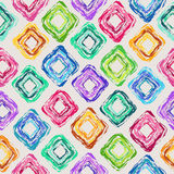 Seamless pattern of colorful rhombus Stock Photography