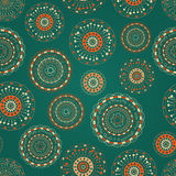 Seamless Pattern with Colorful Round Elements Stock Photo