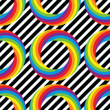 Seamless pattern of colorful round wheel circles, vector  Stock Photography