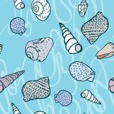 Seamless pattern with colorful sea creatures Stock Photos