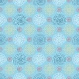 Seamless pattern with colorful seashells Stock Images