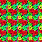 Seamless pattern with colorful sewing buttons Stock Photography