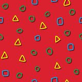 Seamless pattern colorful shape child drawing royalty free illustration
