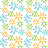 Seamless pattern colorful shells mussels flowers Royalty Free Stock Photography