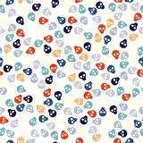 Seamless pattern with colorful skulls Stock Image