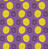 Seamlees pattern of pineapples Stock Photography