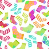 Seamless pattern with colorful socks vector illustration