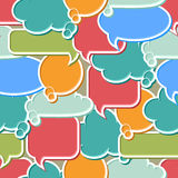 Seamless pattern of colorful speech bubbles and Royalty Free Stock Image