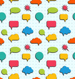 Seamless Pattern with Colorful Speech Bubbles Royalty Free Stock Image