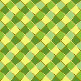 Seamless pattern with colorful squares in yellow, green and golden outlines. For wrapping paper, textile, decoupage paper, scrapbooking, background, decoration stock illustration