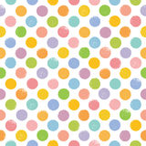 Seamless pattern with colorful stamp dots. Royalty Free Stock Photography