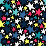 Seamless pattern with stars. Seamless pattern with colorful stars stock illustration