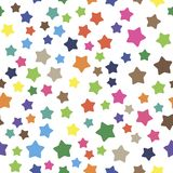 Seamless pattern with colorful stars. Vector.  Royalty Free Stock Photo