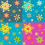 Seamless pattern with colorful stars, vector background. Stock Image