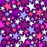 Seamless pattern with colorful stars Stock Image