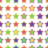 Seamless pattern of colorful stars Stock Image