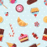Seamless pattern colorful sticker candy, sweets Stock Photography