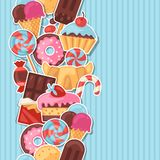 Seamless pattern colorful sticker candy, sweets Stock Image
