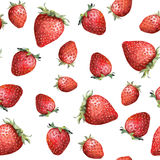 Seamless pattern with colorful strawberry. Aquarelle. Seamless pattern with colorful strawberry on white background. Aquarelle royalty free stock photo