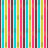 Seamless pattern with colorful stripes Stock Image
