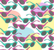 Seamless pattern with colorful sunglasses. Glasses pattern. Royalty Free Stock Photography