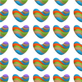 Seamless pattern with colorful sweet hearts. Vector background Royalty Free Stock Photography