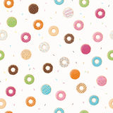 Seamless pattern with colorful tasty glossy donuts Royalty Free Stock Photo