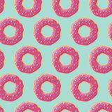Seamless pattern with colorful tasty glossy donuts Royalty Free Stock Image