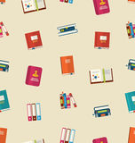 Seamless Pattern of Colorful TextBooks Stock Photography