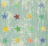 Seamless pattern with colorful texture and stars Royalty Free Stock Photography