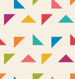 Seamless Pattern with Colorful Triangle Royalty Free Stock Image