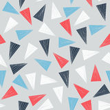 Seamless pattern with colorful triangles. Stock Image