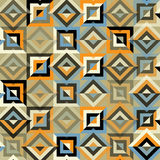 Seamless pattern with colorful triangles and rhombuses . Royalty Free Stock Images