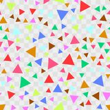 Seamless pattern with colorful triangles. Vector background. Stock Images