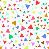 Seamless pattern with colorful triangles. Vector background. Stock Photography