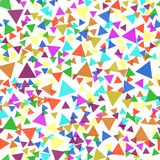 Seamless pattern with colorful triangles. Vector background. Stock Photos