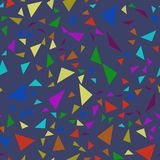 Seamless pattern with colorful triangles. Vector background. Stock Photo