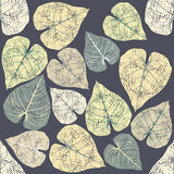 Seamless pattern with colorful tropical leaves Stock Images