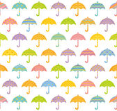Seamless pattern with colorful umbrellas. Stock Photo