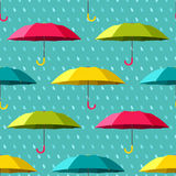 Seamless pattern with colorful umbrellas Stock Photo